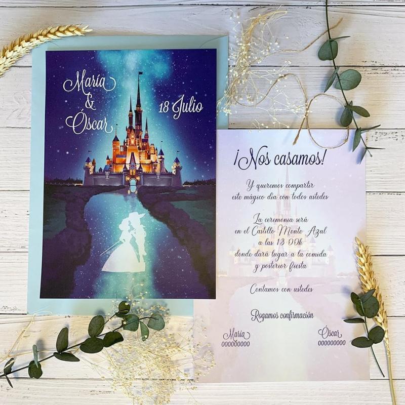Invitación Castillo Disney