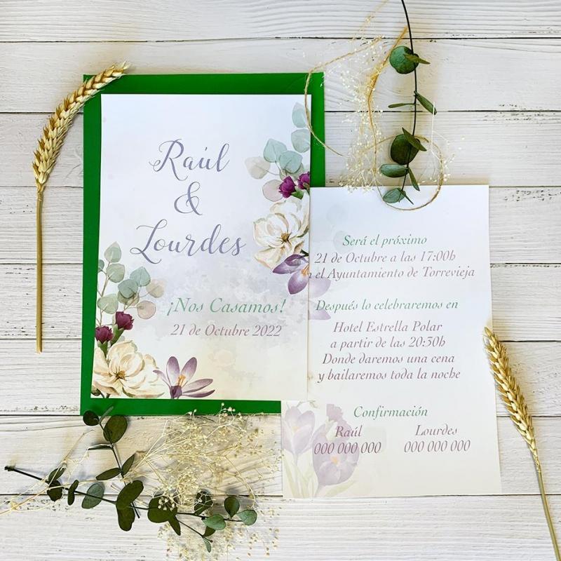 Invitación flor Azafrán