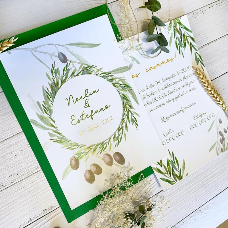 Invitación Hojas de Olivos