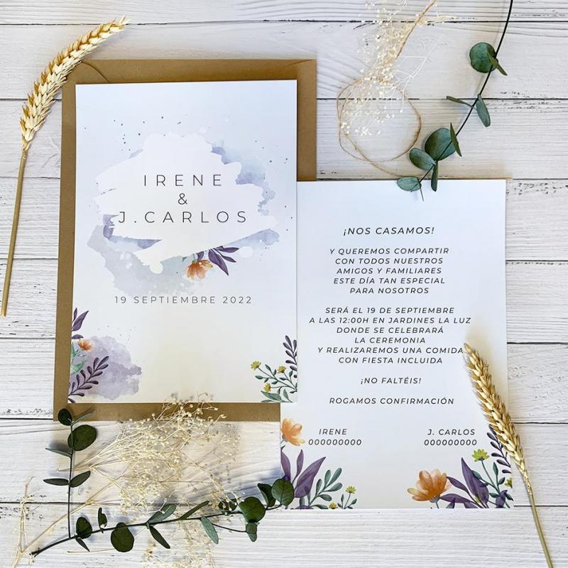 Invitación Jardín Floral