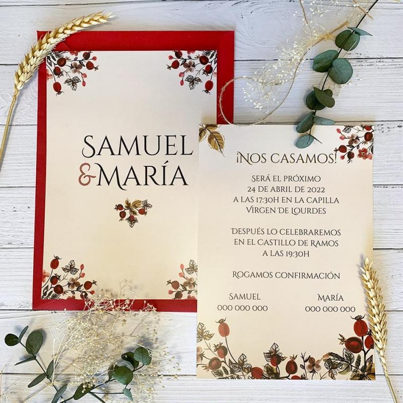 Invitación Flor Granada