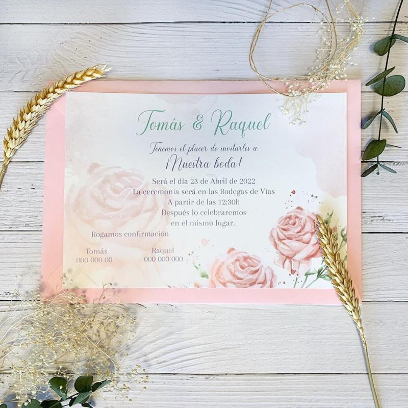 Invitación Petit Rosas