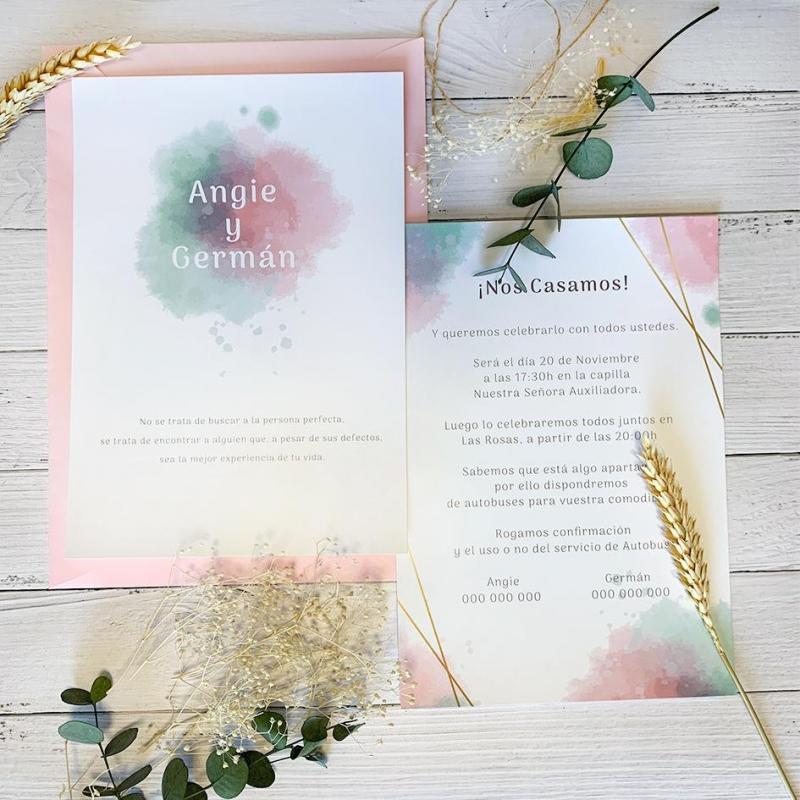 Invitación Color Amor