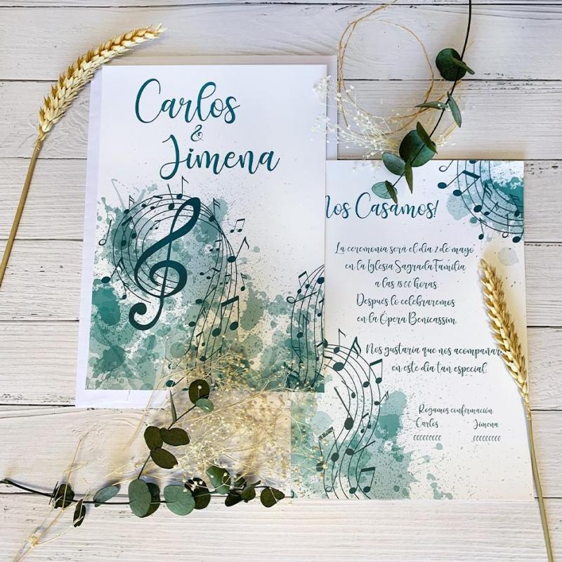 Invitación Notas Musicales