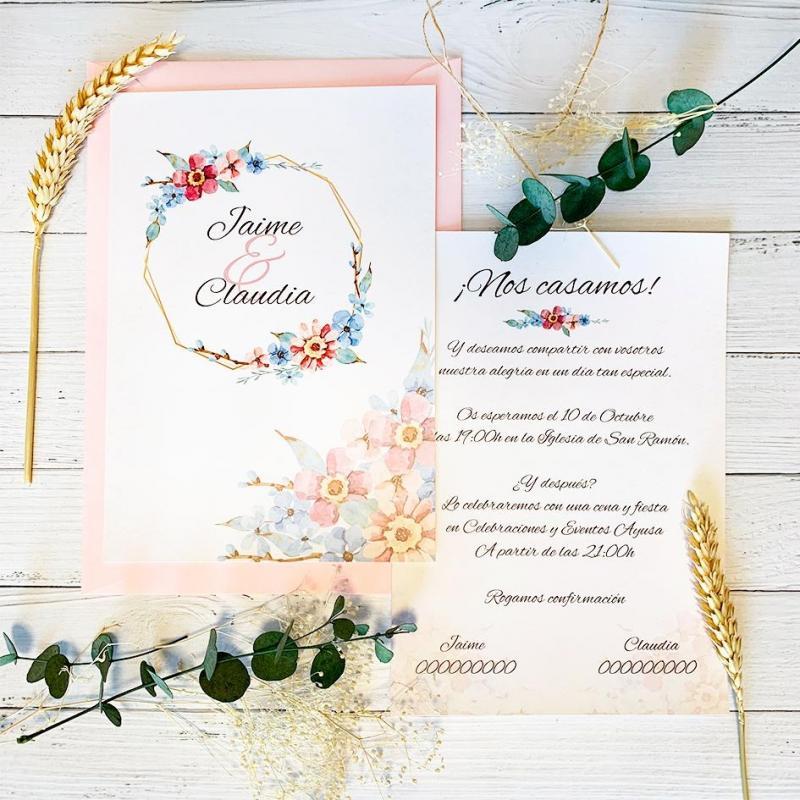 Invitación Jazmín Azul