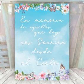Cartel para los que nos acompañan desde el cielo
