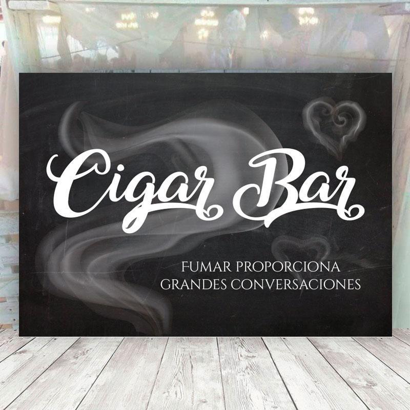 Cartel Cigar Bar para Bodas