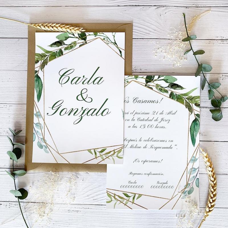 Invitación Hojas Verdes