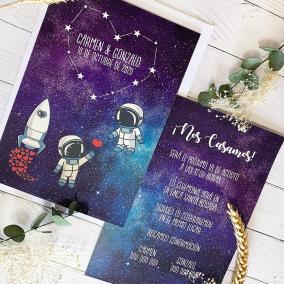 invitacion de boda galaxia