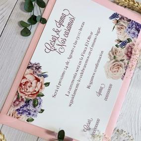 invitacion de boda economica