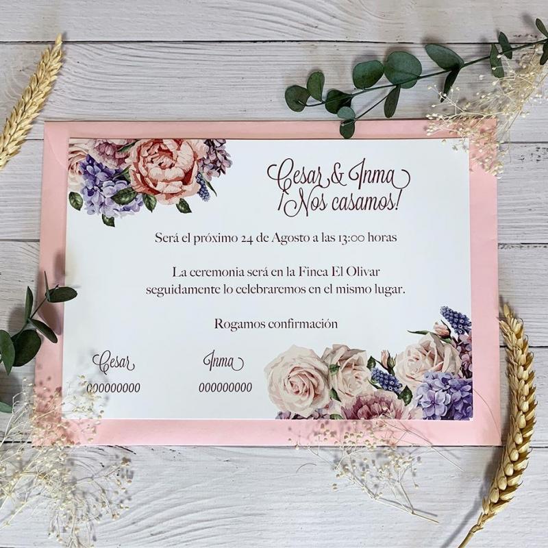 Invitación Floral Económica