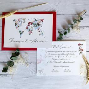 Invitación Mapa Romántico