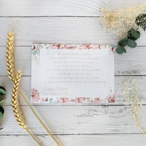 Tarjeta de agradecimiento Floral Disney