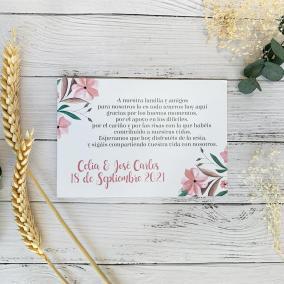 Tarjeta de Agradecimiento para Invitados de Boda