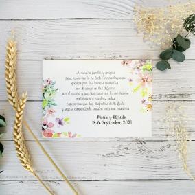 Tarjeta de Agradecimiento Primavera