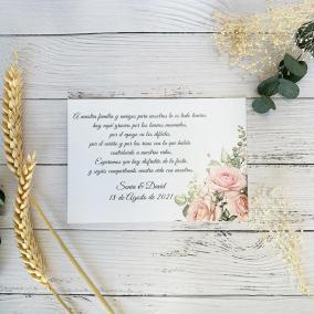 Tarjeta de Agradecimiento Romántica