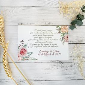 Tarjeta de Agradecimiento Floral