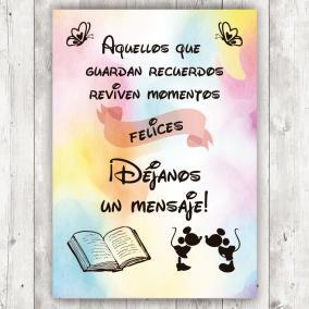 Cartel para libro de firmas...