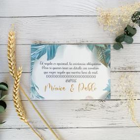 Tarjeta de agradecimiento Floral Azul