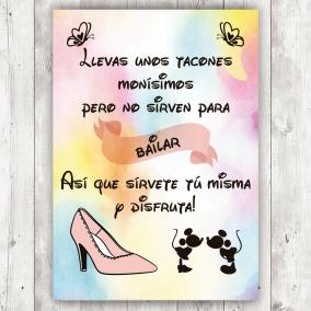 Cartel Tacones Disney