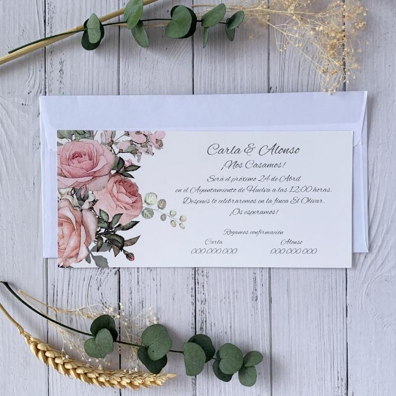 Invitación Elegante Económica