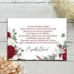 Tarjeta Rosas Rojas