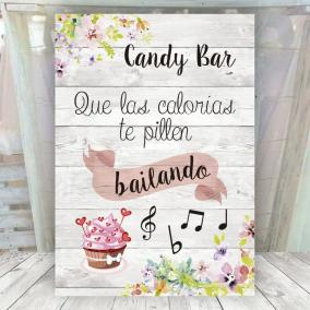 Cartel Decorativo Candy Bar