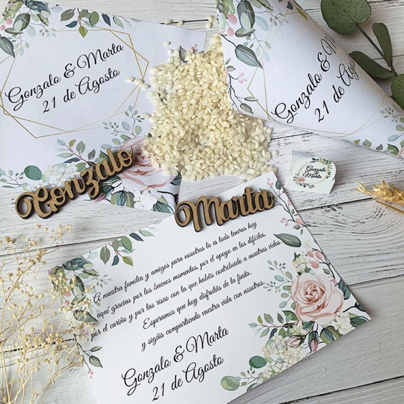 Pack papeleria elegante para boda