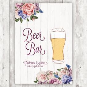 Cartel para Bodas Cerveza