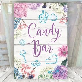 Cartel Candy Hortensias Lilas