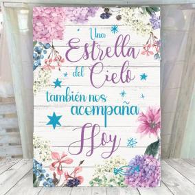 Cartel Cielo Hortensias Lilas