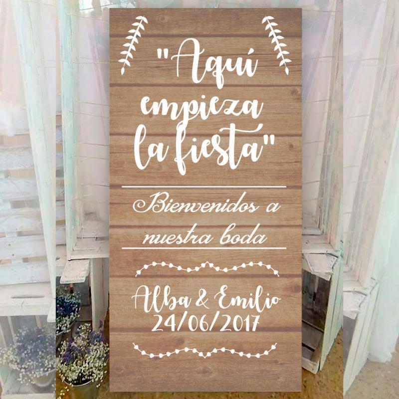cartel boda vintage