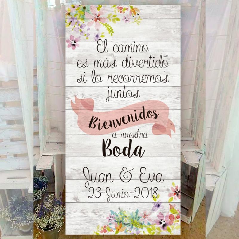 Cartel bienvenida para bodas