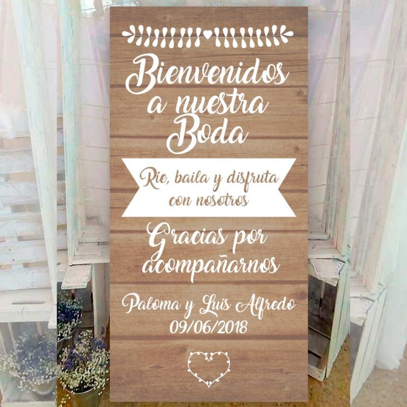 Cartel retro para bodas