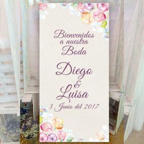Cartel elegante para bodas