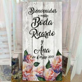 Cartel para bodas vintage