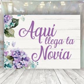 Cartel para entrada novia