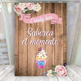 Cartel para candy bar de bodas