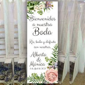 Banner para Bodas Tropical