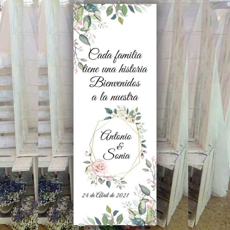 Banner elegante para bodas