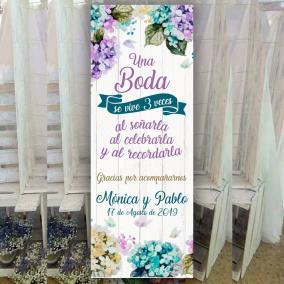 Banner una boda se vive 3 veces