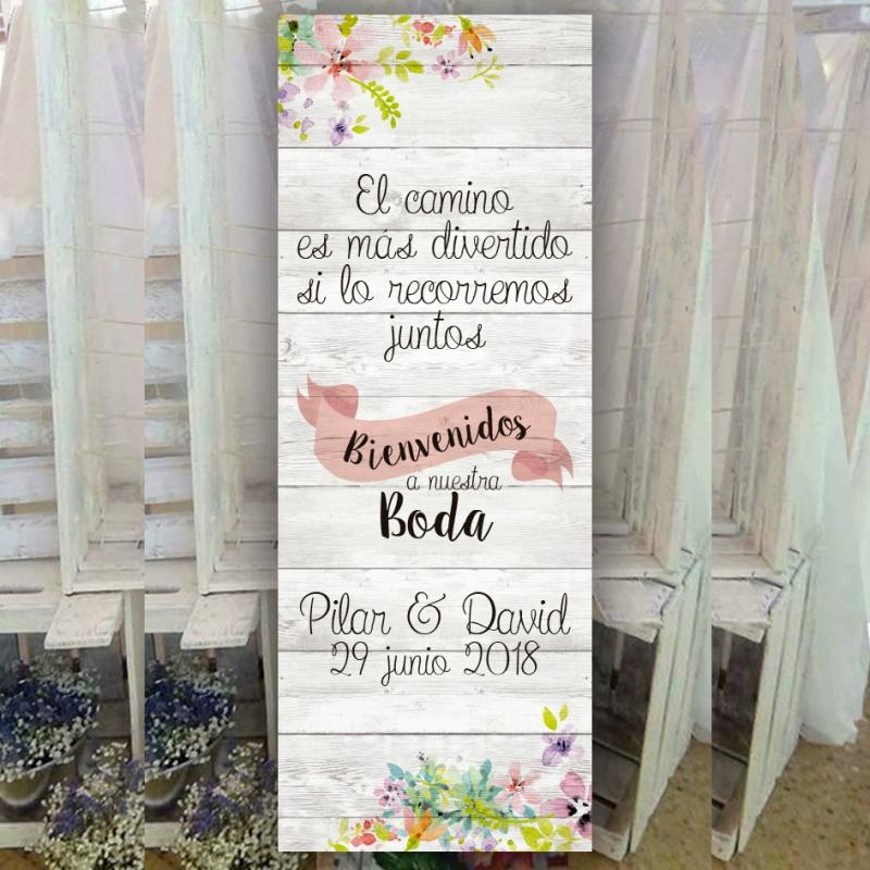 Banner para bodas barato