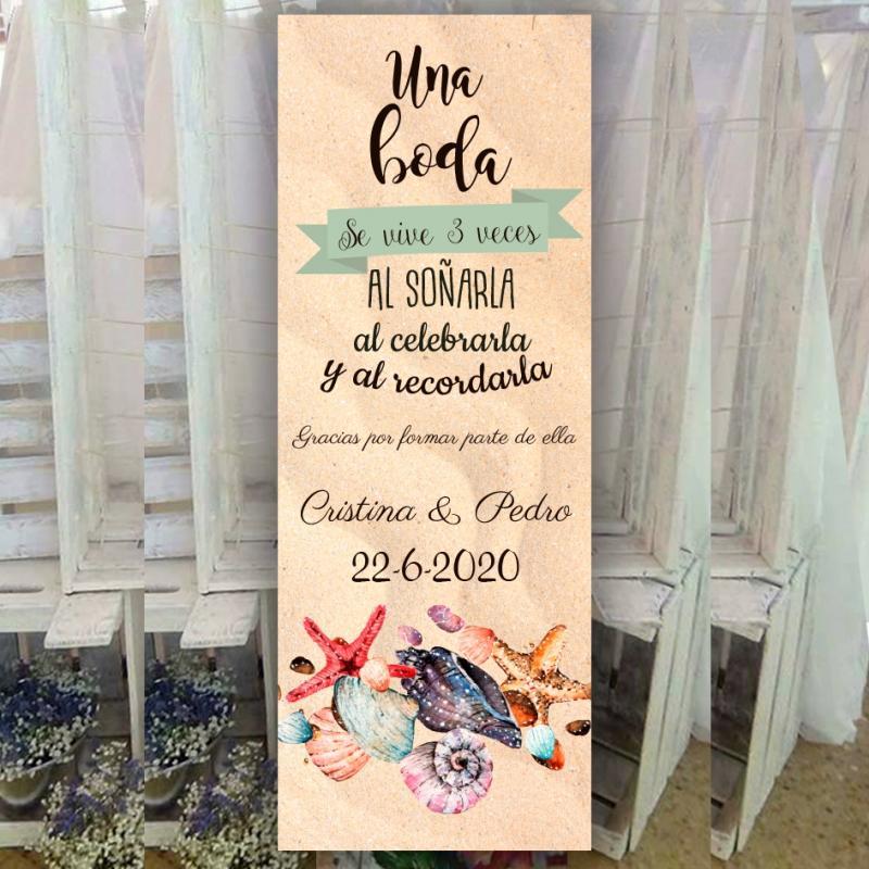 Banner para bodas Marina